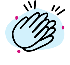 hand-drawn icon of hands applauding