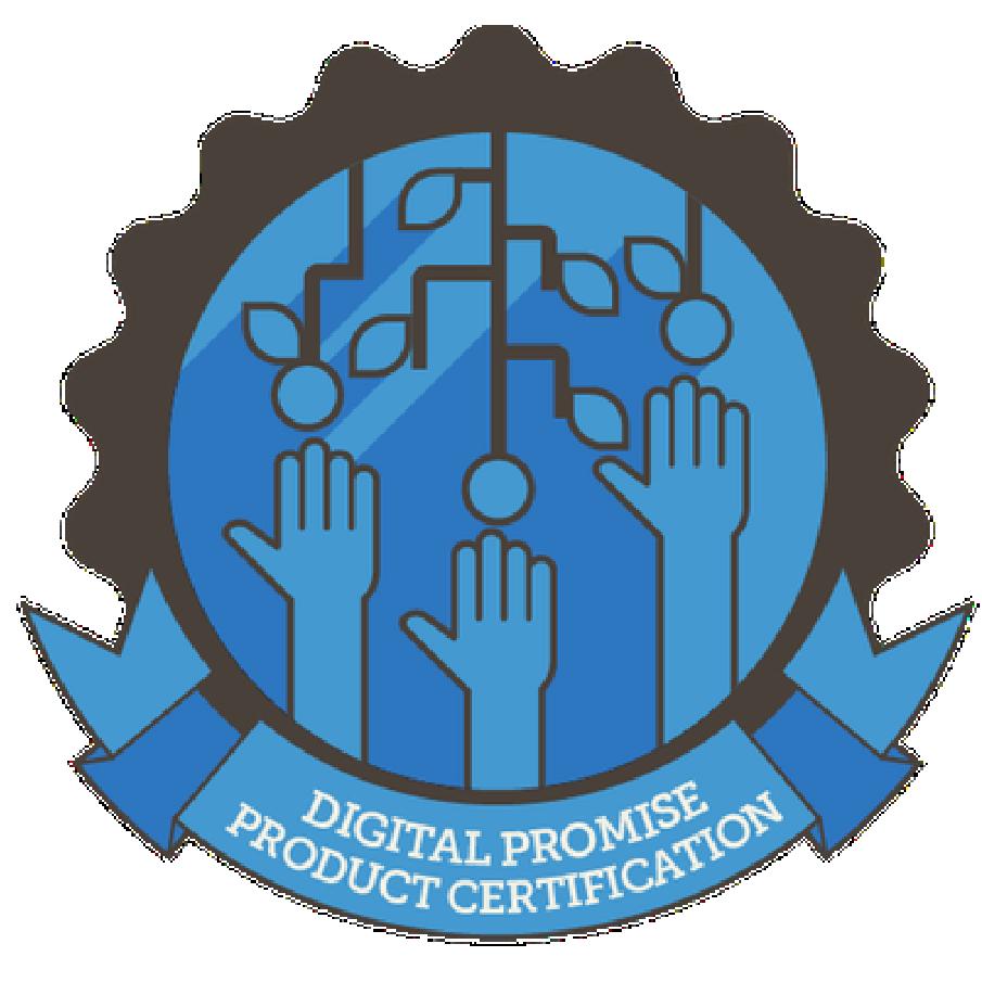 Blue image of Digital Promise Product Certification logo